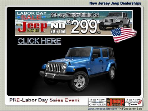 new jersey jeep dealerships new jersey jeep dealership labor day sales event