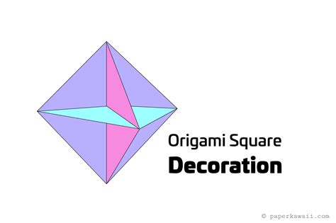 Origami Square - origami square hanging decoration tutorial