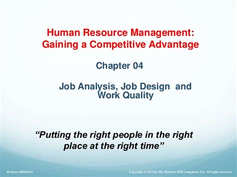 design by humans jobs module3 analysis and design of work