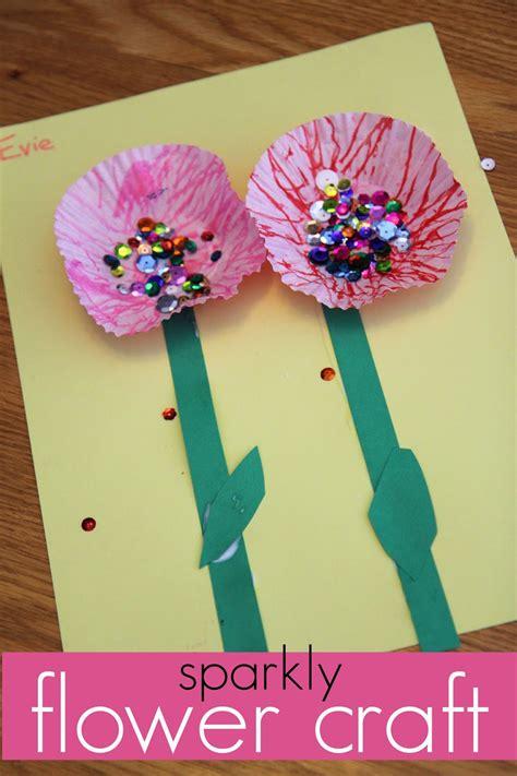 flower pattern kindergarten sweet sparkly flower craft for kids read learn create