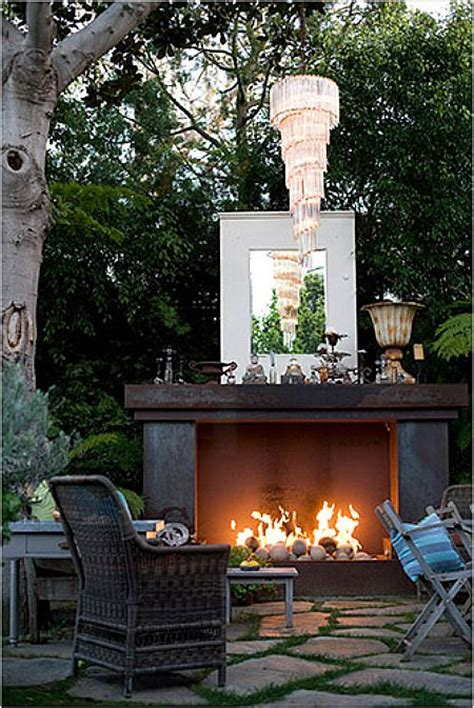 unique and stylish fireplaces for outdoor living