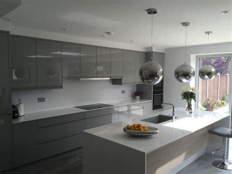 remo silver grey gloss kitchen kitchen ergonomics