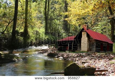 Cabins On River by Cabin On River Image Cg9p56627c