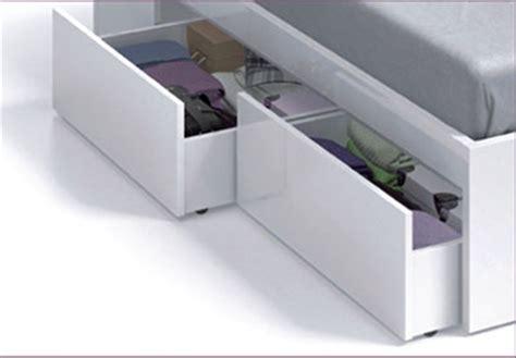 armario 150 x 220 cama de matrimonio con cuatro cajones en color blanco
