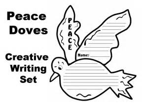 dove of peace template peace doves creative writing templates documents and