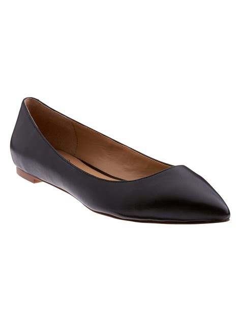black flat pointed toe shoes banana republic angela pointed toe flat in black lyst
