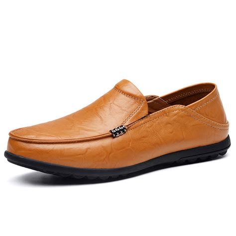 big loafers big size leather comfortable driving loafers flats alex nld