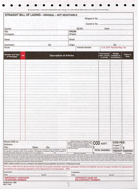 28 form bill of lading bill of
