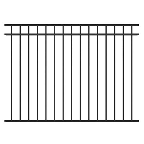 home depot decorative fence mainstreet aluminum fence 3 4 in x 1 5 ft x 6 ft black