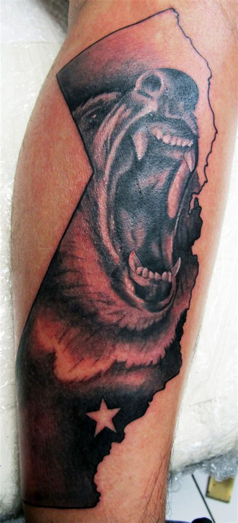 california bear tattoo bear tattoos amp artwork