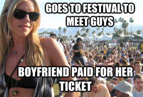 Festival Girl Meme - meet privileged festival girl meme