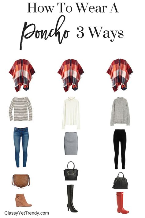 how would a wear how to wear a poncho 3 ways yet trendy