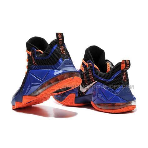 lebron shoes for cheap buy cheap nike lebron 12 2015 low blue black orange mens