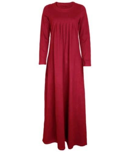 Baju Wanita Bagus Murah Maxi Corak Merah dress muslimah jadi fesyen baju yang semakin popular