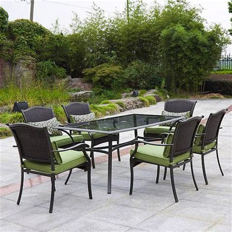 Walmart Patio Dining Set Better Homes And Gardens Providence 7 Patio Dining Set Green Seats 6 Walmart