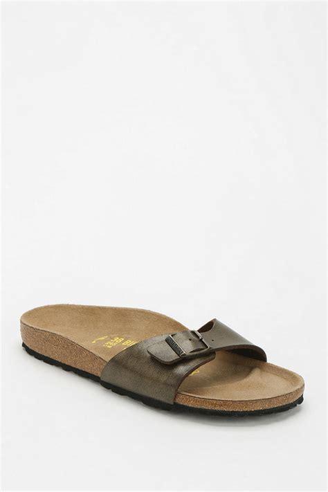 birkenstock designer sandals birkenstock madrid patent birko flor slide sandal in brown