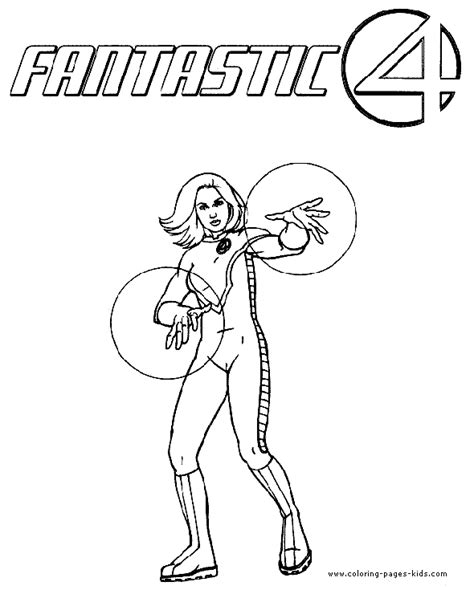 fantastic four color page coloring pages for kids