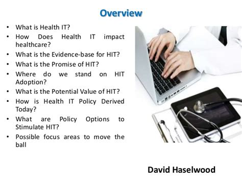 Is Mba In Information Technology A Option by David Haselwood Basics Of Healthcare Information Technology