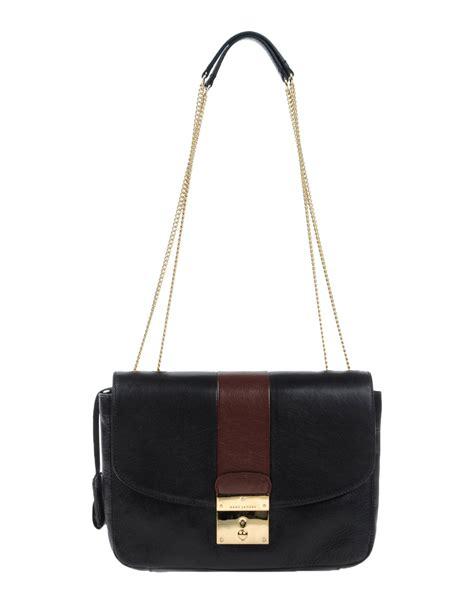lyst marc jacobs shoulder bag  black