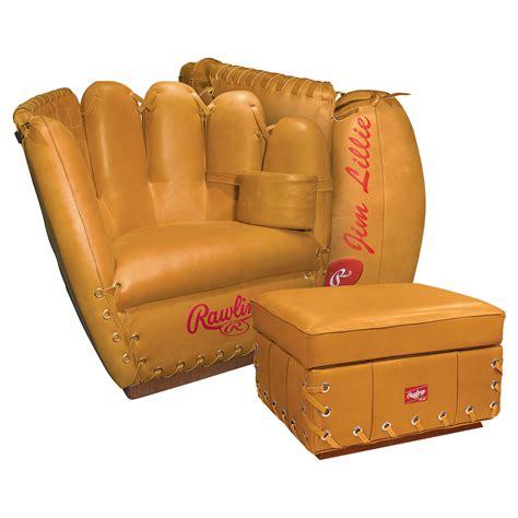 baseball glove couch rawlings leather baseball glove chair the green head