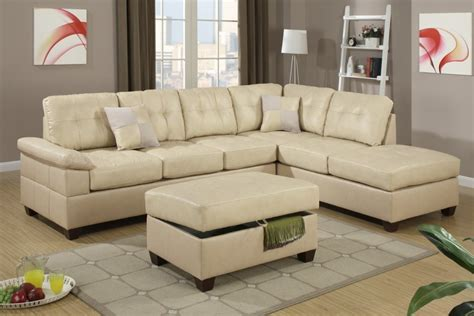 beige sectional sofa with chaise khaki beige bonded leather sectional sofa with reversible