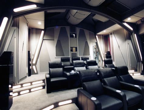 Arcade Basement by Uber Geek Builds An Incredible Death Star Themed Home