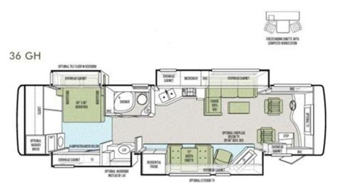 phaeton 36gh floor plan 2012 tiffin phaeton 36gh photos details brochure floorplan