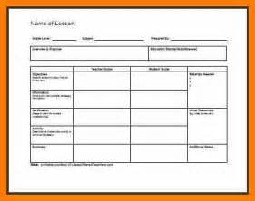 7 simple lesson plan template science resume