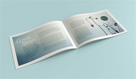 mockup design for brochure free landscape brochure mockup on behance