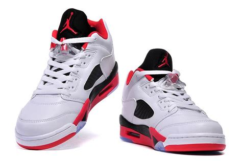 new jordans shoes for 2016 air 5 low red white black