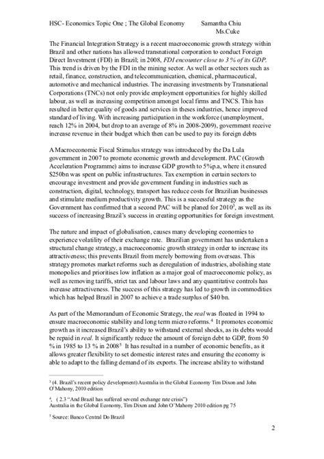Global Economy Essay by World Global Economy Essay
