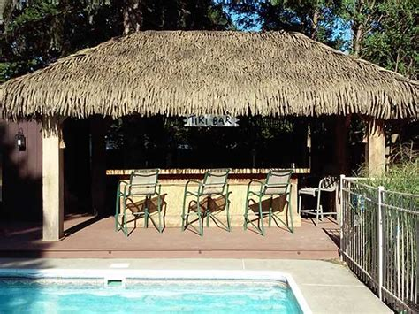 Tiki Hut Thatch Roofing palmex 174 aloha style artificial synthetic palapa thatch roofing
