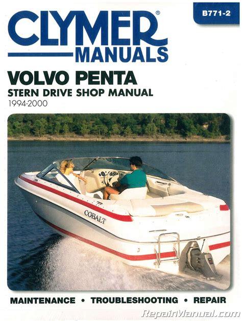 boat repair manuals clymer 1994 2000 volvo penta stern drive boat engine