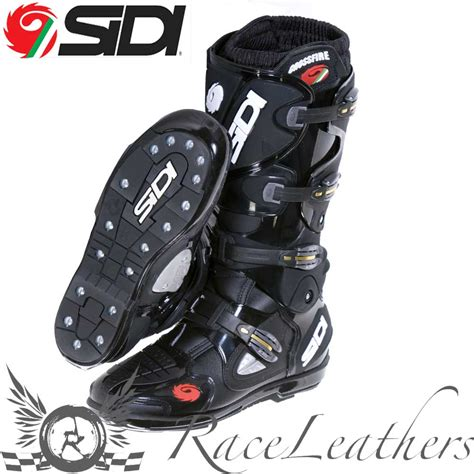 Sidi Crossfire Srs Black Mx Motocross Dirt Bike Boots