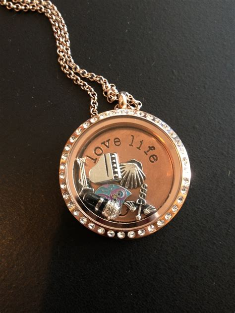 What Are Origami Owl Lockets Made Of - origami owl gold locket and chain origami owl
