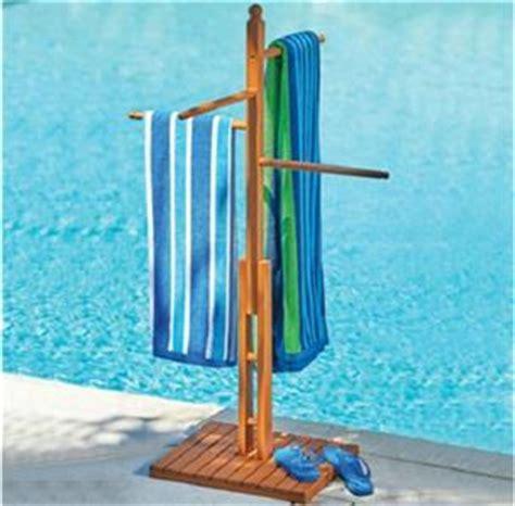 Outdoor Pool Towel Rack by Outdoor Eucalyptus Wood Pool Spa Towel Bar Rack Ebay