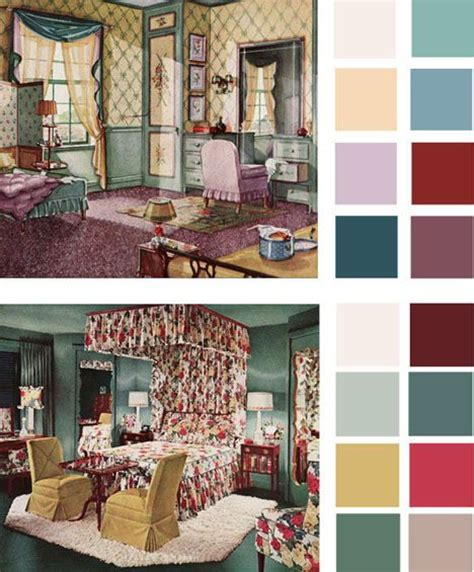 vintage paint color palettes http dornob 6 color palettes based on early 1900s vintage