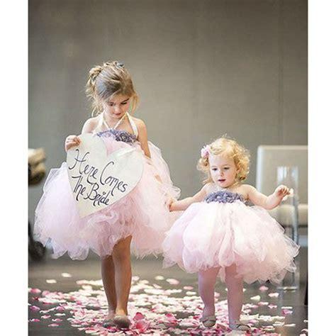 Dress Baby Pink Grey flower dress pink ivory grey baby dress toddler