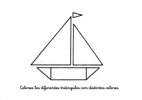 imagenes de barcos con figuras geometricas plantillas dibujo figuras planas