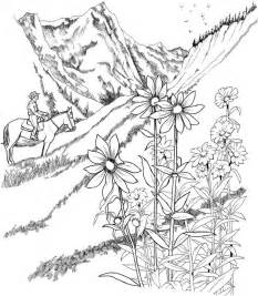 printable coloring pages for adults only landscape coloring page