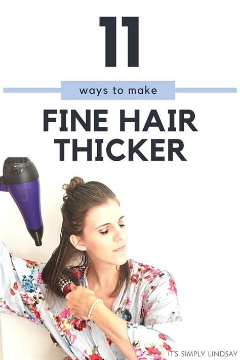 11 Ways To Make 11 ways to make hair thicker it s simply lindsay