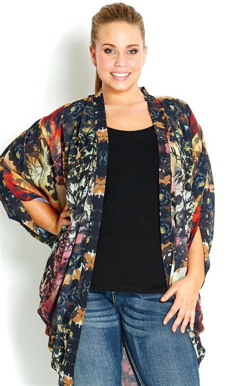whats in atyle for the plus size gurl city chic garden kimono jacket women s plus size