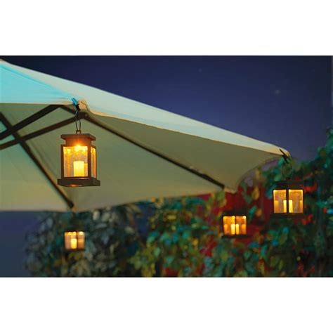 patio umbrella with solar lights solar patio umbrella clip lights 219378 solar outdoor