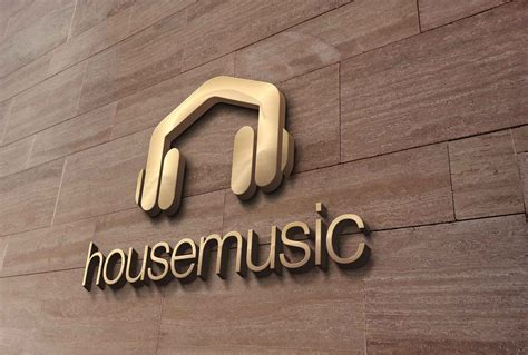 House Music Headphones Logo Design Logo Cowboy