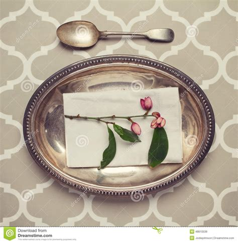 fancy place setting fancy vintage place setting stock photography