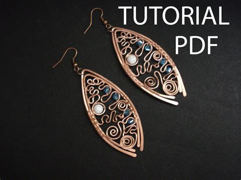 jewelry lessons wire wrap earrings tutorial jewelry tutorial copper