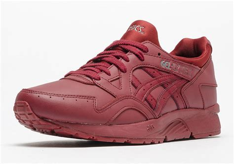 Asics Gel Lyte V Burgundy Sole Gum asics gel lyte v burgundy leather sneakernews