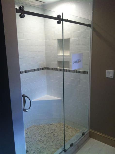 Shower Door Wipe Frameless Sliding Shower Door 3 8 Quot Clear Glass With Chrome Finished Hardware Frameless