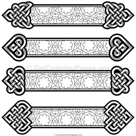 free printable irish bookmarks celtic knot bookmarks coloring pages 7 getcoloringpages org