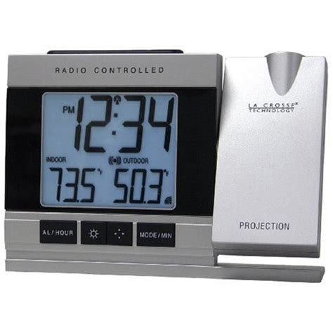 la crosse technology lcr5220uitcbpg atomic projection alarm clock w temperature 616174573686 ebay